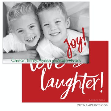 Love & Laughter Holiday Flat Photo Card