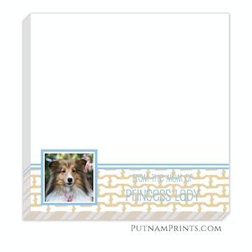 Dog Bone Photo Notepad