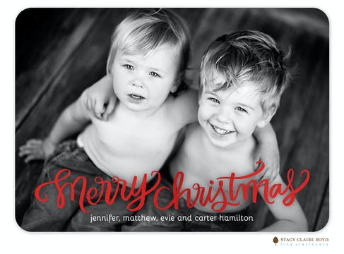 Bright Tidings Foil Pressed Holiday Flat Photo Card