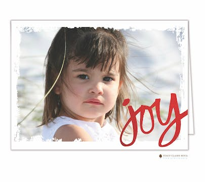 Joy Foil Pressed Holiday Folded Photo Card
