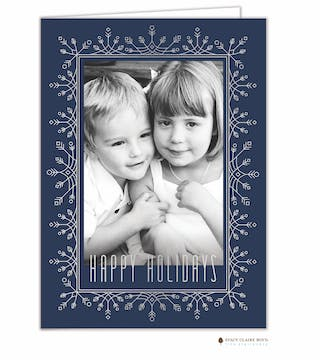 Frosted Flurries Foil Pressed Holiday Folded Photo Card