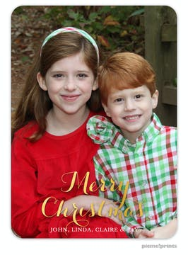 The Family Photo (Vertical) Foil Pressed Holiday Photo Card