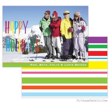 Holiday Rainbow Flat Photo Card