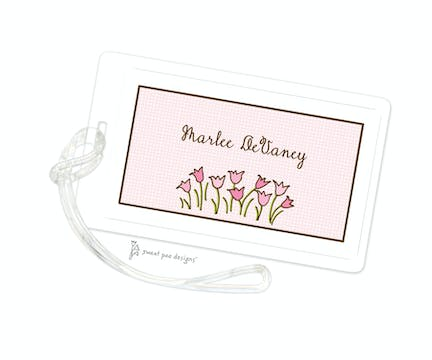 Linen Pink ID Tag