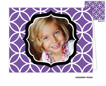 Lattice Posh Lilac Digital Photo Folded Note