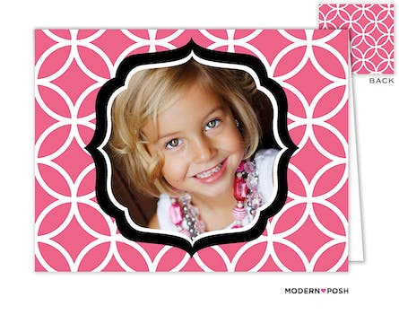 Lattice Posh Poppy Digital Photo Folded Note