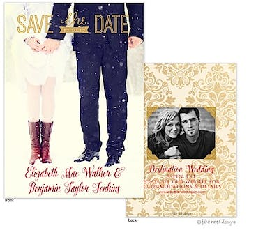 Golden Save The Date Overlay Save The Date Photo Card