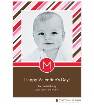 Valentine Stripes Photo Card