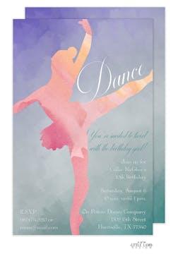 Watercolor Ballet Invitation