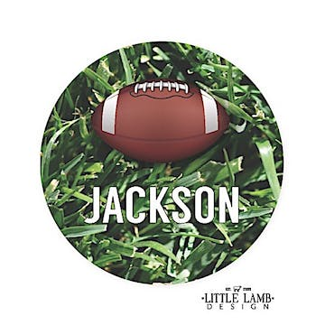Football Round Gift Sticker