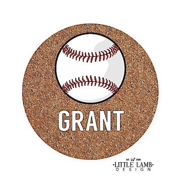 Baseball Round Gift Sticker