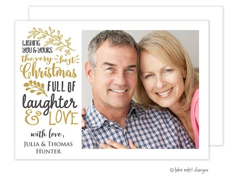 Very Best Christmas Holiday Photo Card