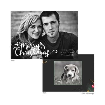 Christmas Casual Script Overlay Holiday Photo Card