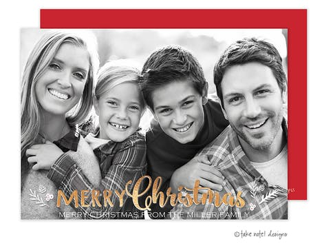 Christmas Sprig Holiday Photo Card