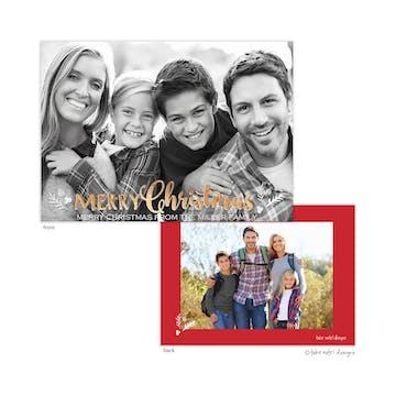 Christmas Sprig Holiday Photo Card