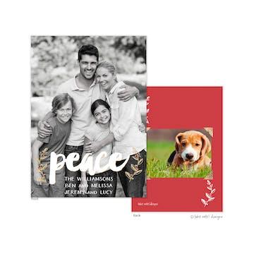 Peace Vines Overlay Holiday Photo Card
