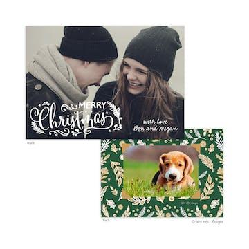Enchanted Christmas Holiday Photo Card