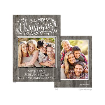 Enchanted Rustic Christmas Holiday Photo Card