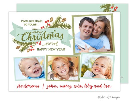 Christmas Eve Sprig Banner Holiday Photo Card