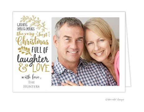 Very Best Christmas Folded Holiday Photo Card