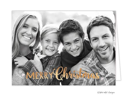 Christmas Sprig Folded Holiday Photo Card