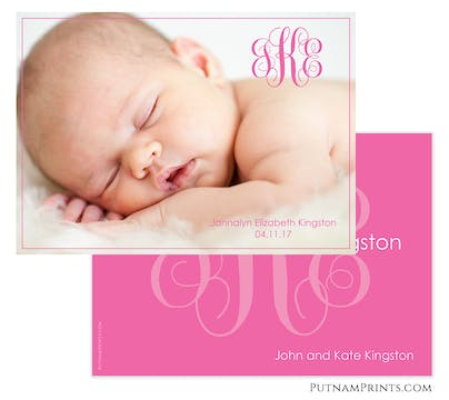 Monogram Spotlight Photo Card
