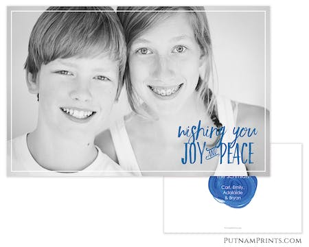 Brushed Greeting Photo Card