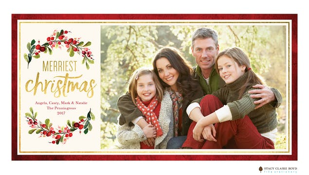 Gorgeous Garland Holiday Photo Card