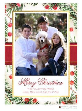 Berry Christmas Holiday Photo Card