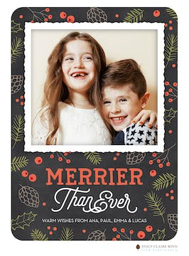 Merrier Than Ever Holiday Photo Card