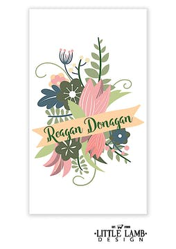 Floral Banner Enclosure Card