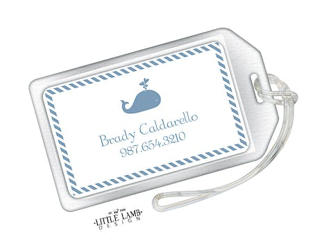 Whale Acrylic Luggage Tag