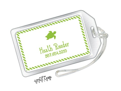 Turtle Acrylic Luggage Tag