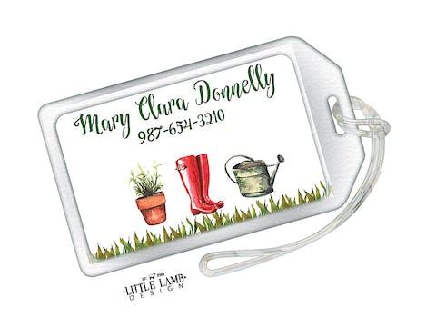 Gardening Acrylic Luggage Tag