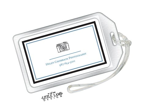 Camera Acrylic Luggage Tag