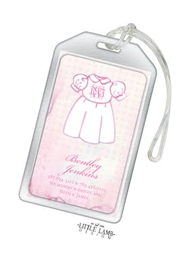Sweet Dress Acrylic Luggage Tag