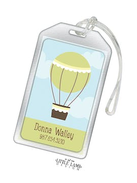 Hot Air Balloon Acrylic Luggage Tag