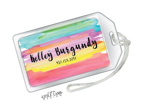 Watercolor Acrylic Luggage Tag
