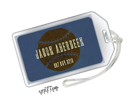 Baseball Acrylic Luggage Tag