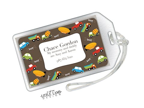 Transportation Acrylic Luggage Tag