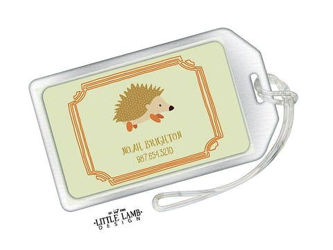 Hedgehog Acrylic Luggage Tag