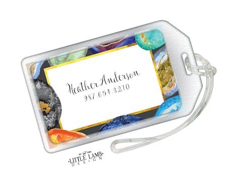 Agate Stone Acrylic Luggage Tag