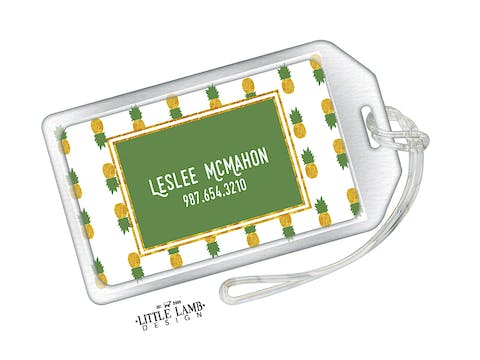 Pineapple Acrylic Luggage Tag