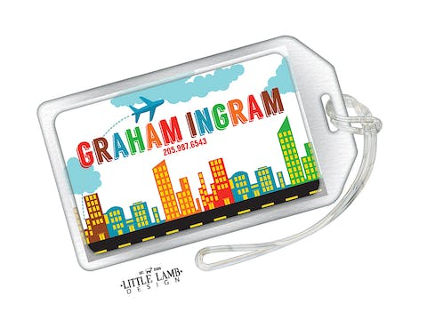 Big City Acrylic Luggage Tag