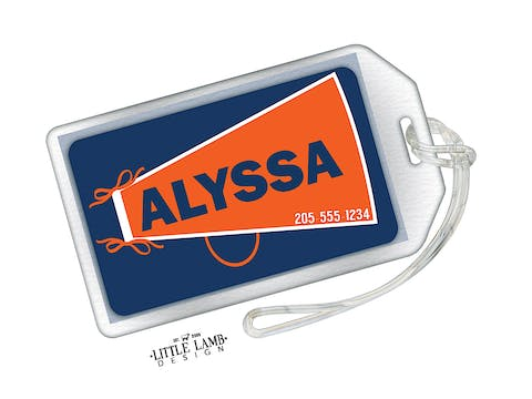 Cheerleader Megaphone Acrylic Luggage Tag