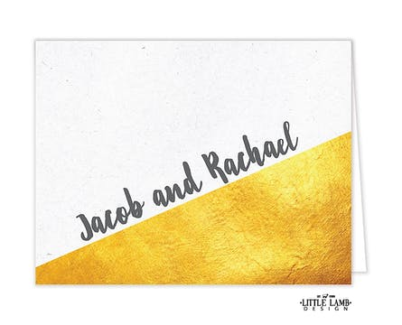 Speckled And Golden Folded Note