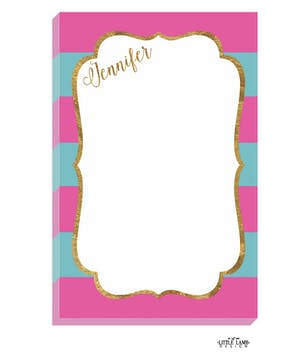 Hot Pink & Teal Glitter Frame Notepad