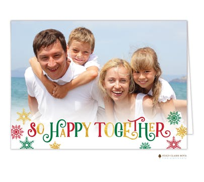 So Happy Folded Holiday Photo Card