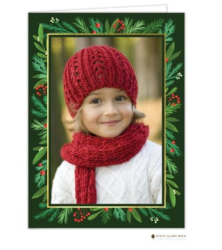 Lovely Leaves Holiday Photo Card