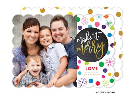 Make it Merry and Bright Holiday Photo Card